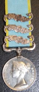 Crimea 1854 clasps Alma, Balaklava, Inkermann to Edwd Dealeney, 46th Regt- Killed in action