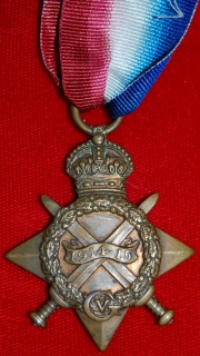1914/15 Star named to Pte P.Blinston, The Queen's R.