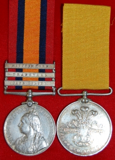Pair: Private H. Shaw, 66th Co Imp Yeo- QSA and Yorkshire Imperial Yeomanry