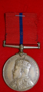 1902 Coronation medal Metropolitan Police reverse to