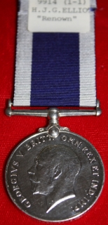 Royal Naval LSGC medal K.59013 H.J.G. Elliot, Mech, HMS Renown