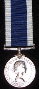 Royal Naval Long Service and Good Conduct Medal to HMS Drake