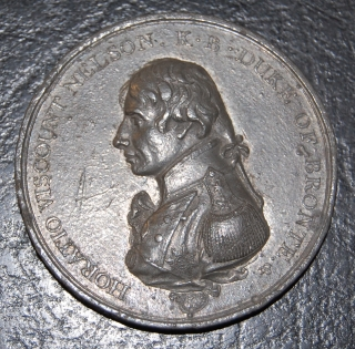 Matthew Boulton's Medal for Trafalgar 1805, white metal, unmounted