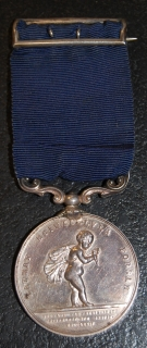 Royal Humane Society medal silver for HALIFAX WHARF RESCUE