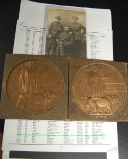 MEMORIAL PLAQUES to Two Brothers-KIA-10th Bn and 46th Bn