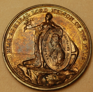 Alexander Davison's Medal for the Nile 1798 bronze