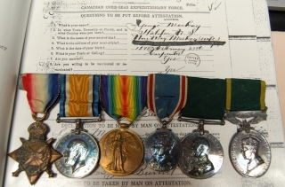 WWI Trio & post-war service to Halifax soldier