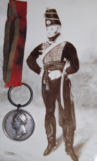 Waterloo 1815 (CAPT. JOHN JENKINS, 11th REG. LIGHT DRAGOONS.) fitted with original steel clip and ring suspension