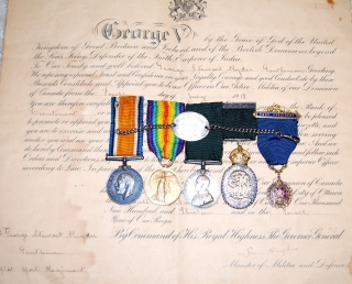 WWI Pair & Colonial Aux medals to Major G.S. Ryder, 236th MacLean Kilties (& York Regt)