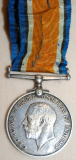 British War Medal 1914-20 to 1015860 A. Sjt. C. W. Simpson, B.C.R.