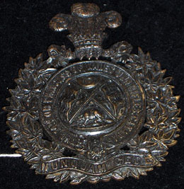 14th Prince of Wales Own Rifles Shoulder Belt Plate