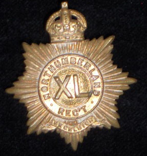 40th Northumberland Regiment collar badge