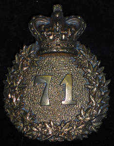 71st YORK VOLUNTEER Battalion Shoulder belt Plate