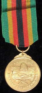 Zimbabwe Independence medal 1980 – numbered