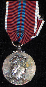 1953 Coronation medal in silver unnamed