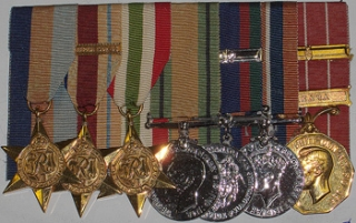 WW2 Group of seven medals & George VI C.D. to Cpl. T.W. Vidal