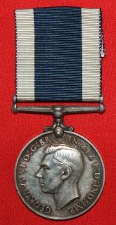 Naval LSGC medal (George VI) to JX. 148519 E.J. Vicars. A.B. HMS Boscawen