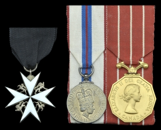 St. John, 1977 Jubilee, CD to Honorary Colonel F.T. King, 18th Field Regiment of Canadian Artillery