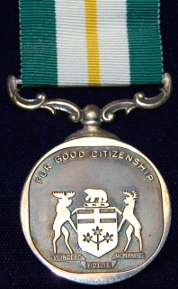 Ontario Medal for Good Citizenship -Birks Sterling